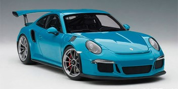 PORSCHE 991 GT3 RS MIAMI BLUE/DARK GREY WHEELS 1/1