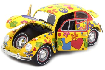 VW BEETLE HIPPY PEACE AND LOVE FLOWER POWER 1967 1