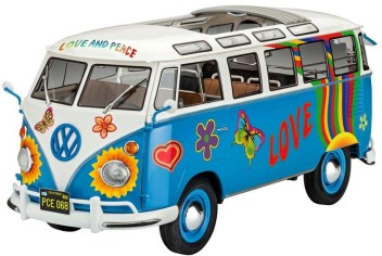"VOLKSWAGEN T1 SAMBA BUS ""FLOWER POWER"" 1/24"